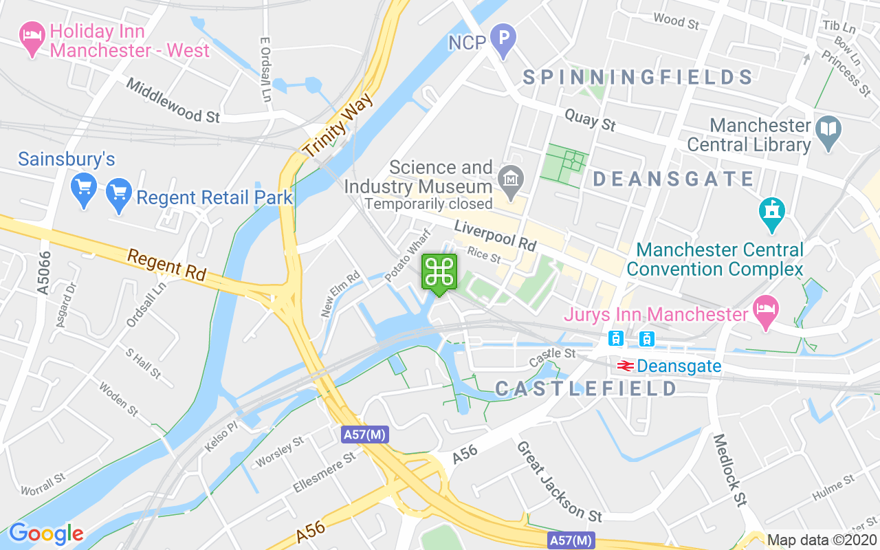 Map showing location of Castlefield