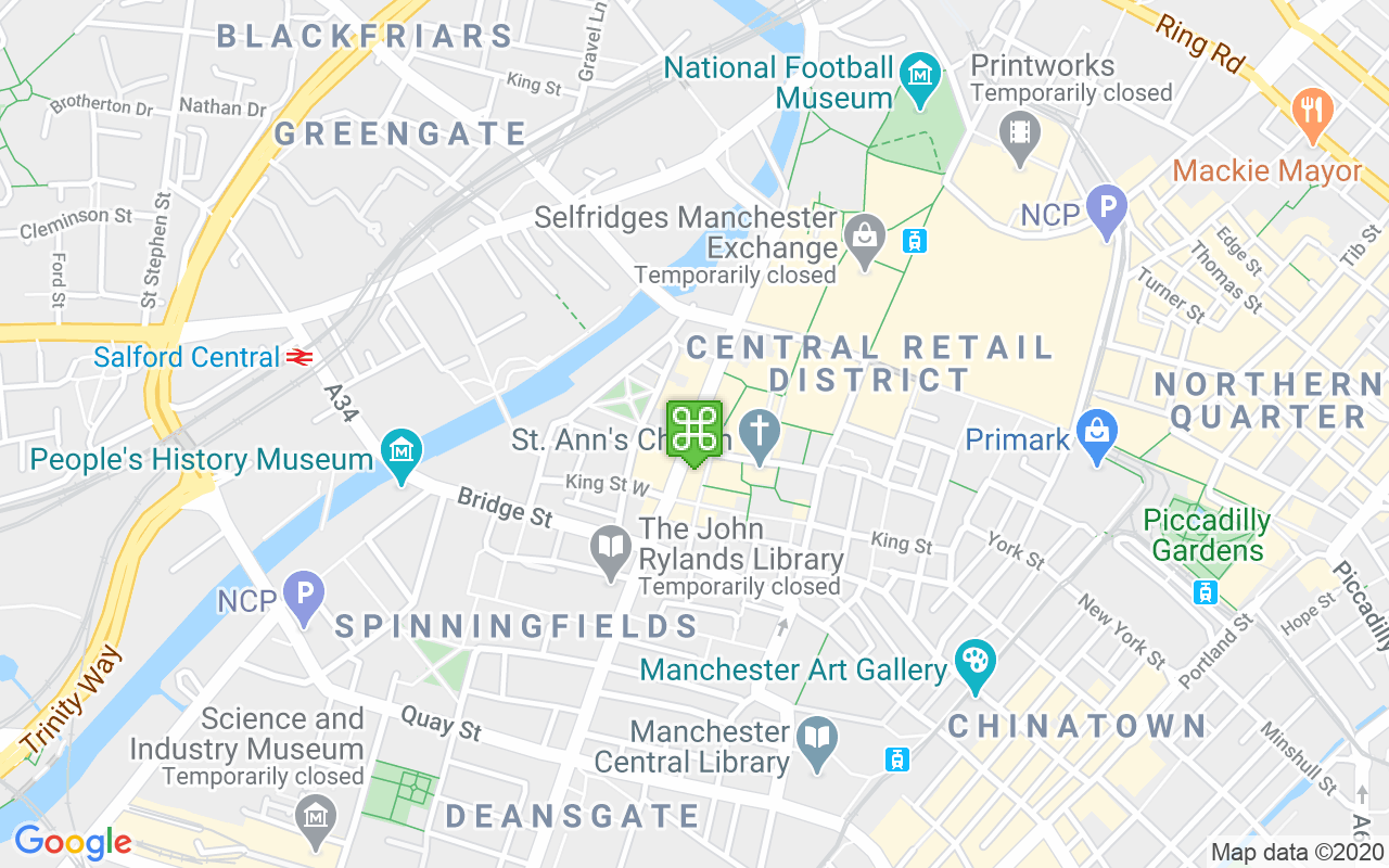 Map showing location of House of Fraser