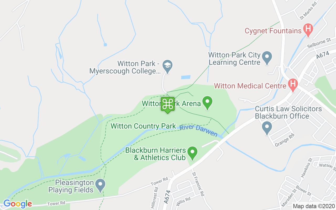 Map showing location of Witton Country Park
