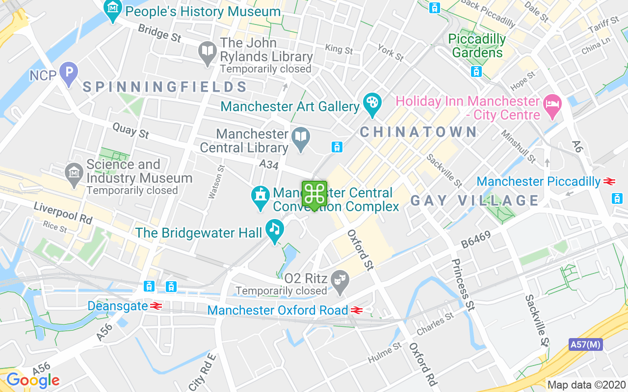 Map showing location of Lower Mosley Street