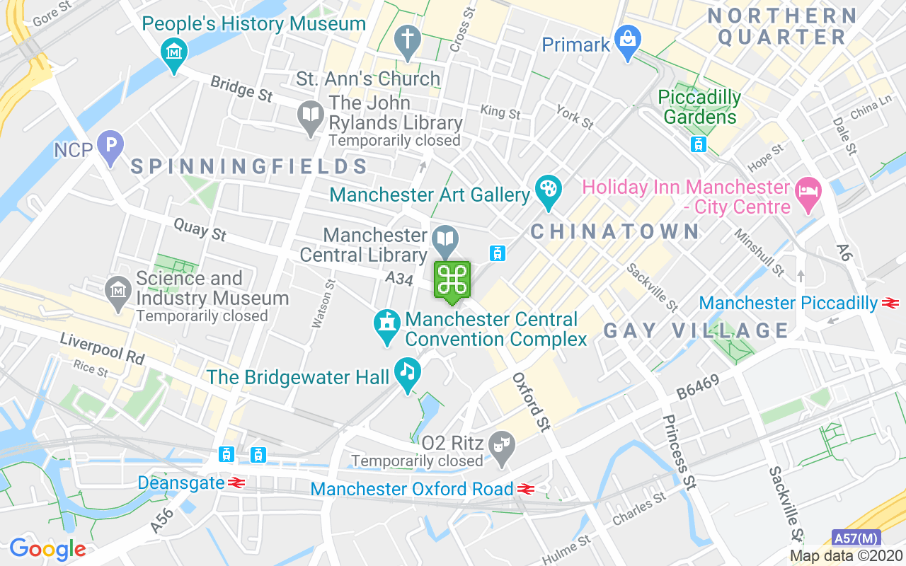 Map showing location of Midland Hotel