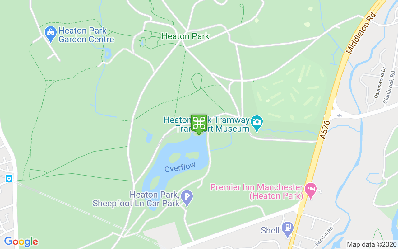 Map showing location of Heaton Park