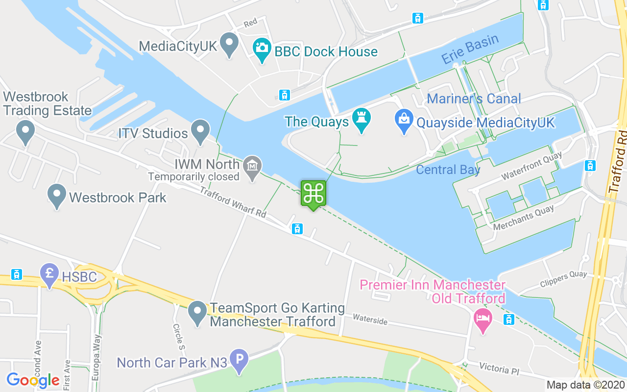 Map showing location of The Lowry