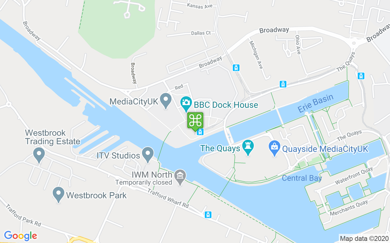 Map showing location of MediaCityUK