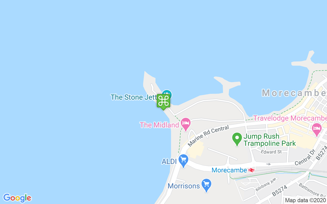Map showing location of Stone Jetty