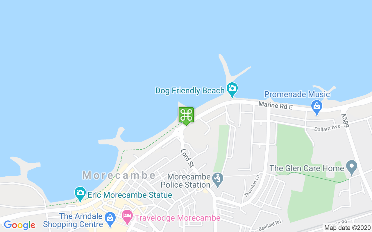 Map showing location of Morecambe Sailing Club Race Office