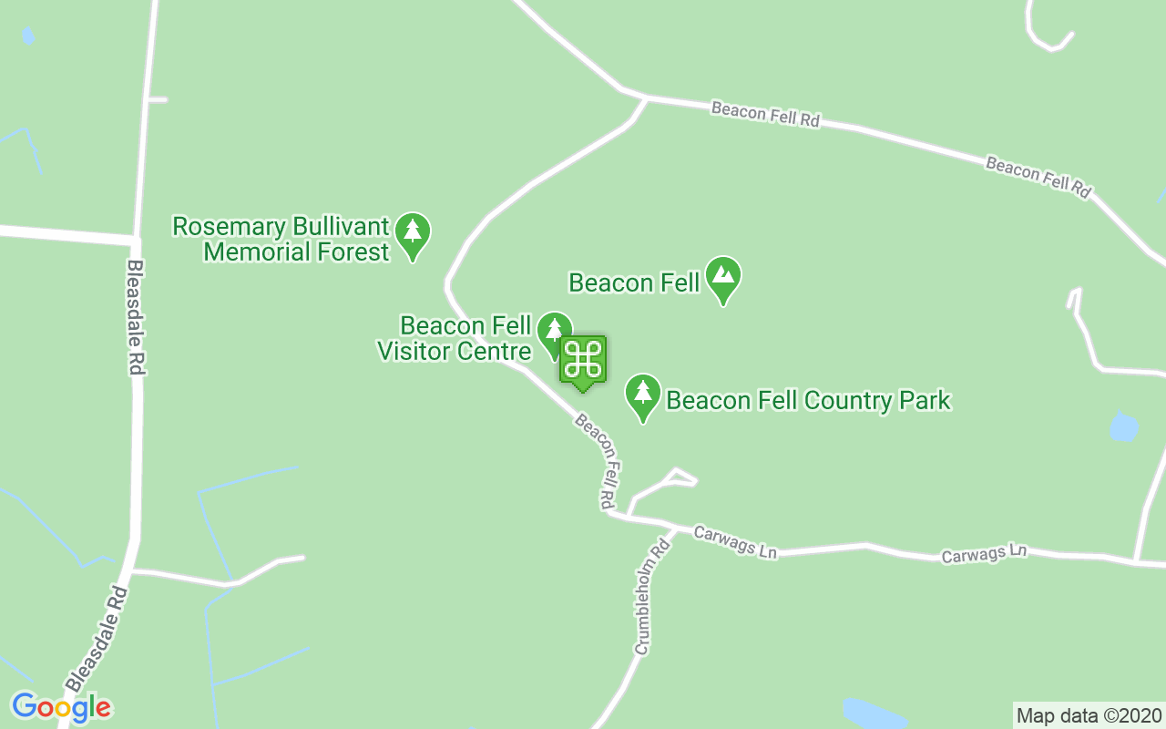 Map showing location of Beacon Fell Country Park