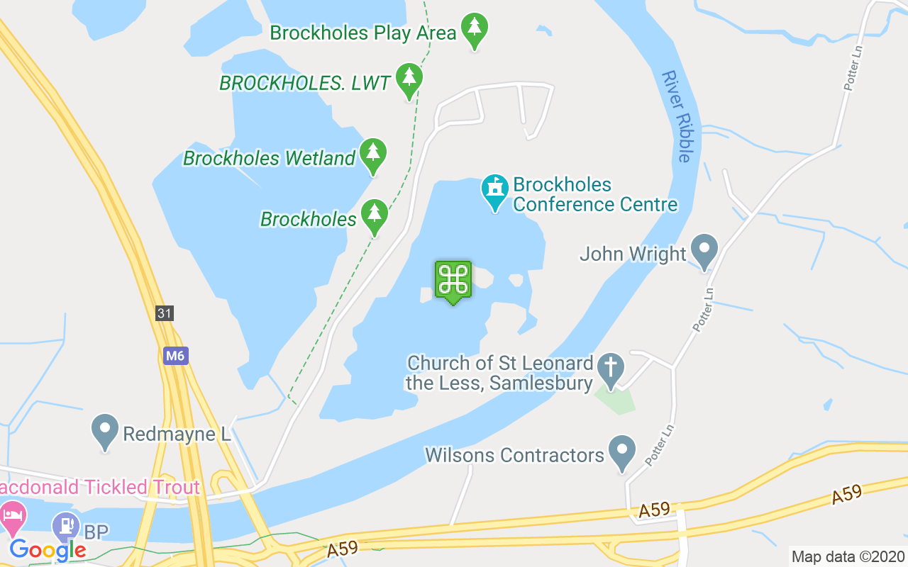 Map showing location of Brockholes