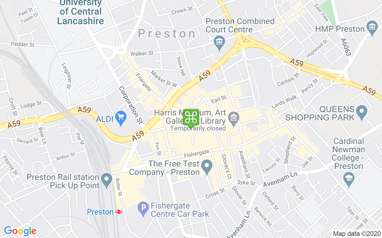 Map showing location of St George's Shopping Centre