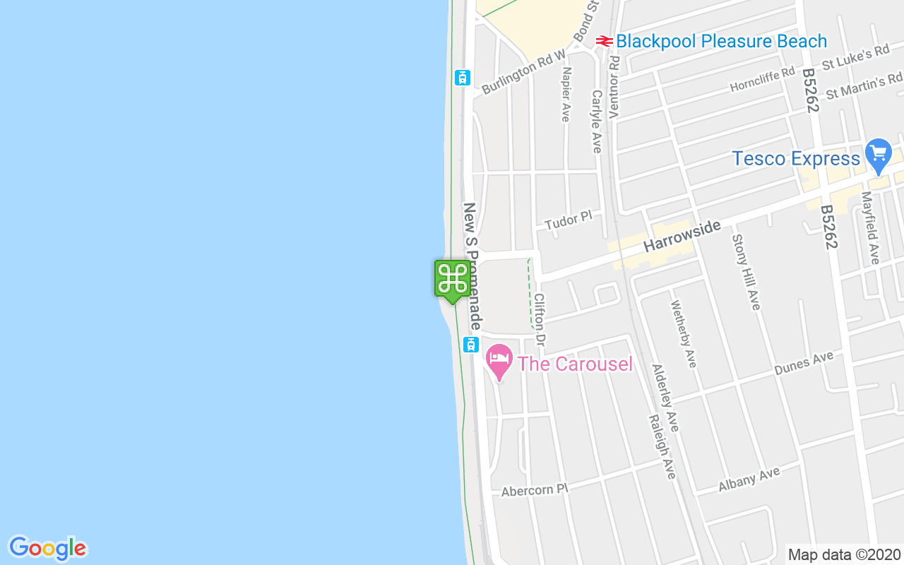 Map showing location of Great Promenade Show