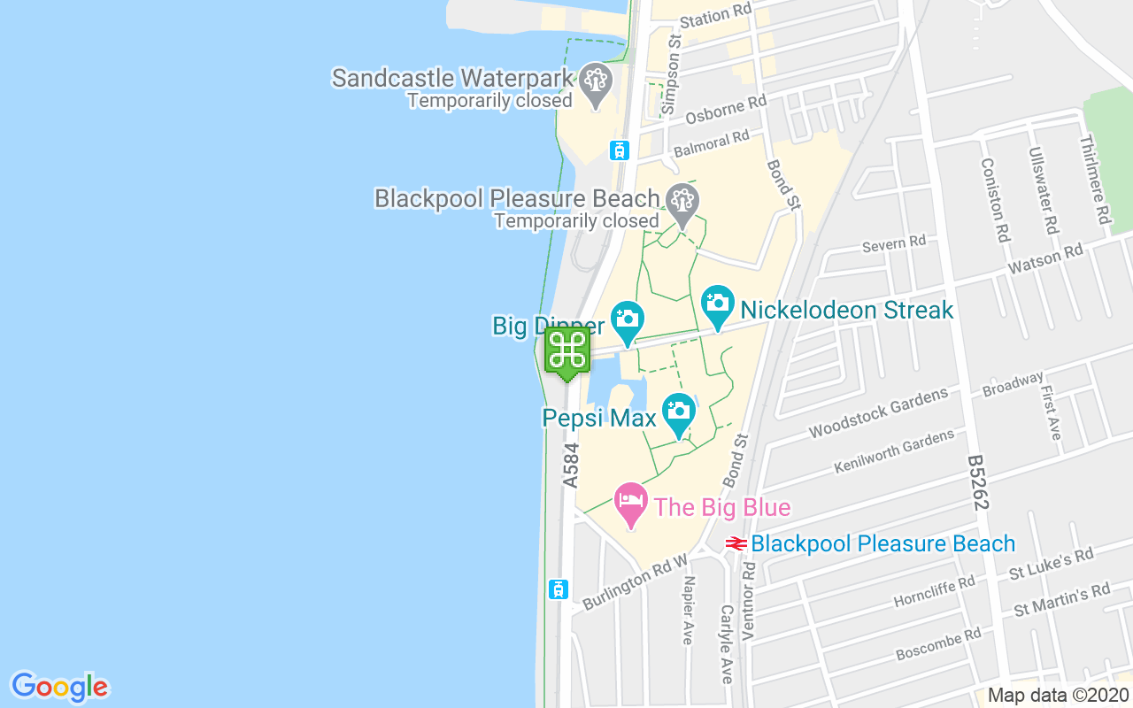 Map showing location of South Beach Car Park