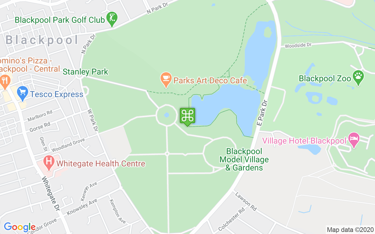 Map showing location of Stanley Park