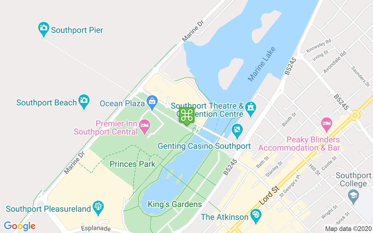 Map showing location of Ocean Plaza