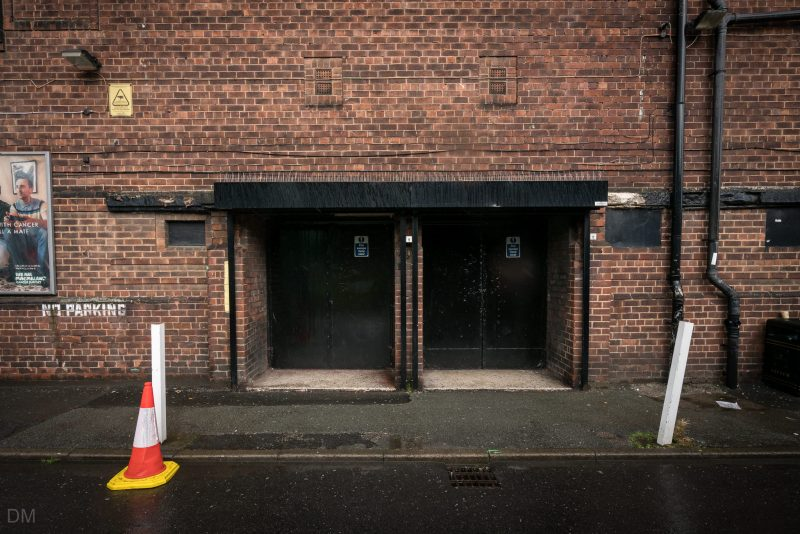 Photo of the stage doors at the Apollo Manchester