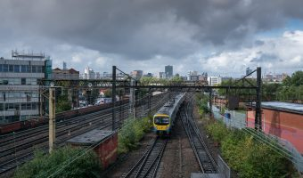 View of the line to Manchester from Ardwick Train Station
