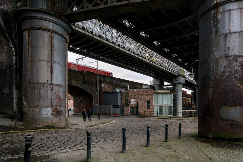 Railway viaducts in the Castlefield area of Manchester.