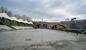 Photo of the Castlefield Bowl in Manchester.
