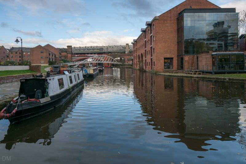 Photo of the Merchants' Warehouse at the Castlefield Basin in Manchester.