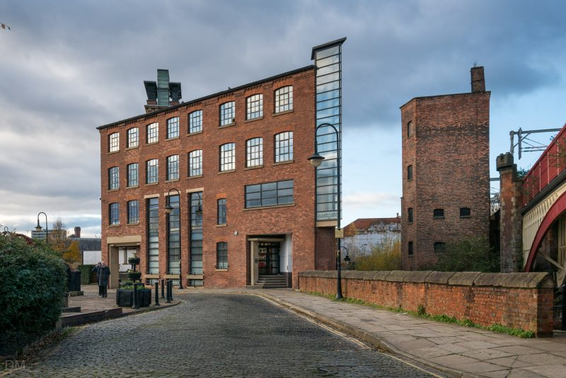 View of the Eastgate Building in Castlefield, Manchester.