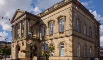 Photograph of Accrington Town Hall in Accrington, Lancashire.