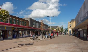Photo of Broadway and the Accrington Arndale shopping centre in Accrington, Hyndburn.
