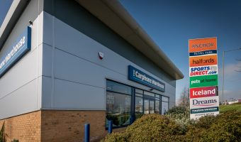 Photo of the Carphone Warehouse store at Anchor Retail Park in Burnley, Lancashire.