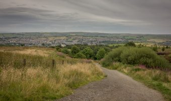 View of Darwen from Darwen Moor. Photograph taken on the way to Darwen Tower.