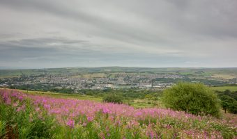 Photograph of Darwen in Lancashire. Taken from Darwen Moor.
