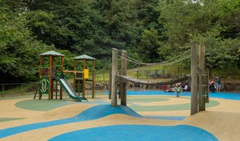 Photograph of the playground at Bold Venture Park in Darwen, Lancashire.