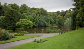 Photo of the ornamental lake at Bold Venture Park in Darwen, Lancashire.