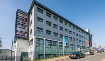 Photograph of Burnley College on Princess Way in Burnley, Lancashire.