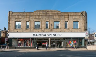 Photograph of the Marks & Spencer store on St James's Street in Burnley.