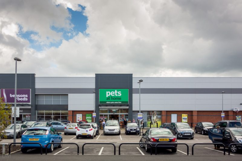 Photograph of the Pets At Home store at Halls Mill Retail Park in Bury, Greater Manchester.