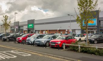 Photograph of the Halls Mill Retail Park in Bury.