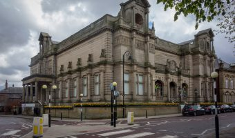 Photograph of Bury Art Museum and Sculpture Centre. Situated on Moss Street in Bury, Greater Manchester.