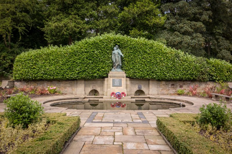 Photograph of the Garden of Remembrance at Corporation Park in Blackburn, Lancashire.