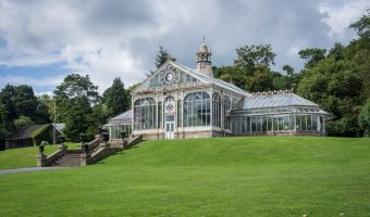 Victorian-era conservatory at Corporation Park in Blackburn, Lancashire.