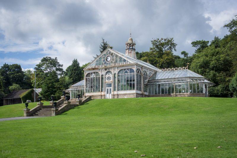 Victorian-era conservatory at Corporation Park in Blackburn, Lancashire.