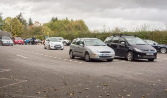 Photo of the car park at Jumbles Country Park in Bolton.