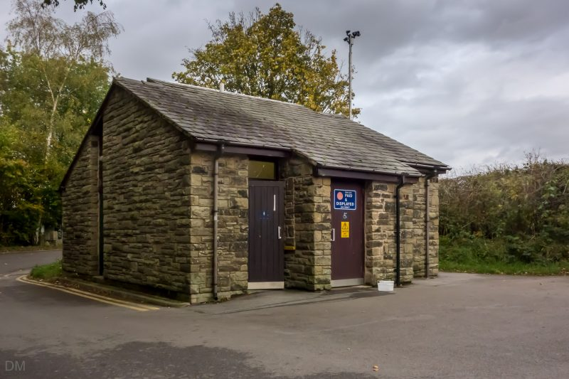 Toilets on the car park at Jumbles Country Park in Bolton.