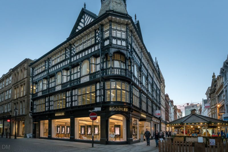 Photograph of the Boodles jewellery store on King Street in Manchester city centre.