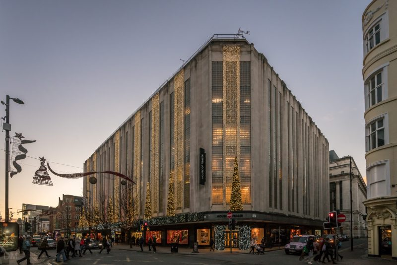 Photo of the House of Fraser department store on Deansgate in Manchester city centre.