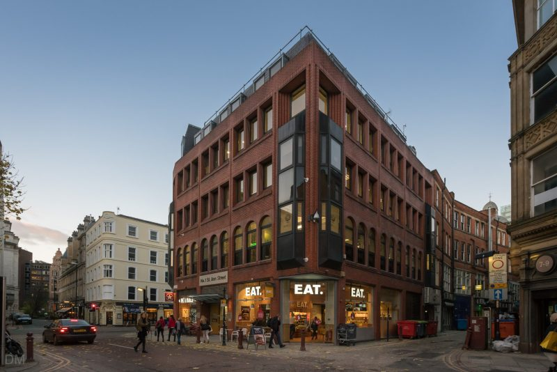 Photo of the EAT cafe on St Ann Street in Manchester city centre.