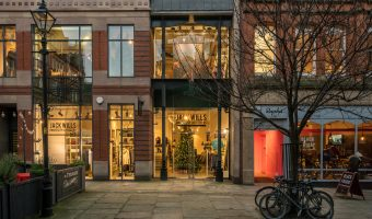 Photo of the Jack Wills clothes shop on King Street in Manchester city centre.