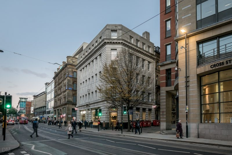 Photo of Cross Street in Manchester city centre.