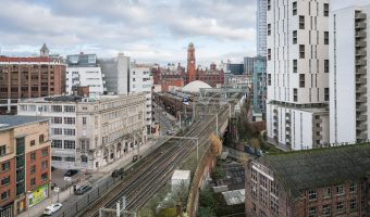 Photo of Manchester Oxford Road Train Station and Whitworth Street West.