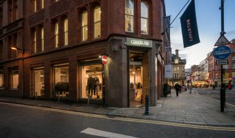 Photo of the Belstaff clothes store in King Street in Manchester city centre.