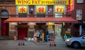 Photograph of the Wing Fat Chinese supermarket on Faulkner Street in Chinatown, Manchester.