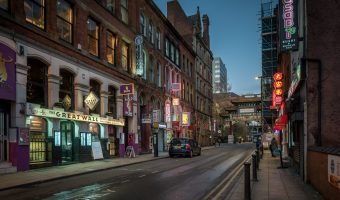 Photograph of Faulkner Street in Chinatown, Manchester city centre.