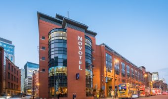Photo of the Novotel Manchester Centre hotel on Portland Street, Manchester city centre.